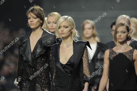 Freja Beha Erichsen, Abbey Lee Kershaw and Sasha Pivovarova on the Catwalk