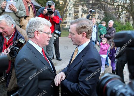 Eamon Gilmore, leader of the Labour party and Enda Kenny, leader of Fine Gael