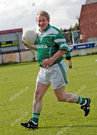 Enda Kenny, leader of Fine Gael, at the Kilmacud Crokes football ground in Dublin, Ireland