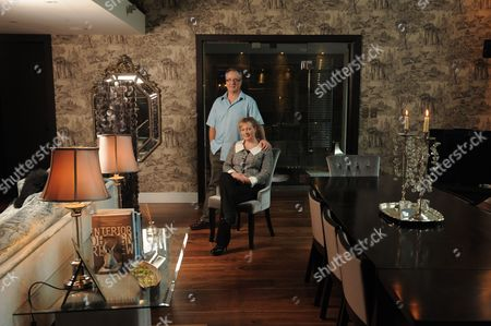 Chris and Fiona Bevan in the open plan living area.