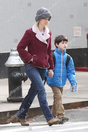 Cynthia Nixon with her son Charles Ezekial Mozes