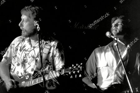 The Yardbirds in concert at the Marquee Club 25th Anniversary, Wardour Street - Chris Dreja (L)