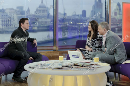 Channing Tatum with Presenters Grainne Seoige and Adrian Chiles