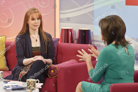 Stock Image of Magsie Hamilton Little and presenter Lorraine Kelly