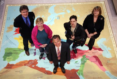 Stock Picture of Michael Portillo with Judges (L-R) Lars Tharp, Charlotte Higgins, Jeremy Deller and Kathy Gee