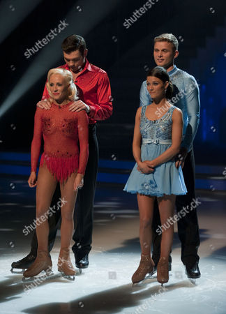 Sam Attwater with Dancing partner Brianne Delcourt, Jeff Brazier and dancing partner Isabelle Gauthier