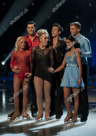 Sam Attwater with Dancing partner Brianne Delcourt, Laura Hamilton with Dancing partner Colin Ratushniak, Jeff Brazier and dancing partner Isabelle Gauthier