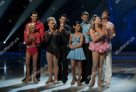 Stock Photo of Sam Attwater with Dancing partner Brianne Delcourt.   Laura Hamilton with Dancing partner Colin Ratushniak.   Jeff Brazier and dancing partner Isabelle Gauthier.   Chloe Madeley with Dancing partner Michael Zenezini