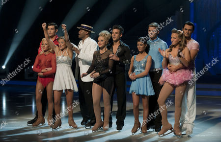 Sam Attwater with Dancing partner Brianne Delcourt.   Johnson Beharry VC with Dancing partner Jodeyne Higgins.   Laura Hamilton with Dancing partner Colin Ratushniak.   Jeff Brazier and dancing partner Isabelle Gauthier.   Chloe Madeley with Dancing partner Michael Zenezini.