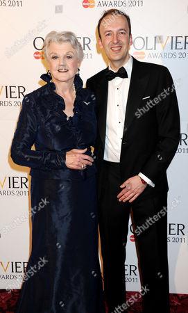 Angela Lansbury and Julian Bird of Society of London Theatre