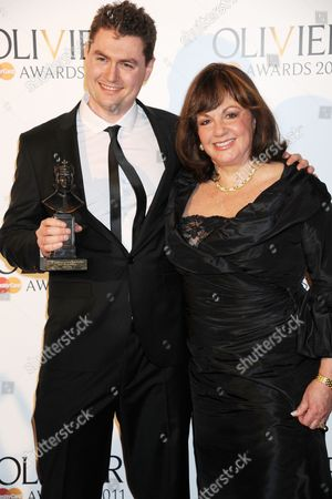 Adam Cork (best sound design for King Lear at the Donmar Warehouse) with Charlotte St. Martin