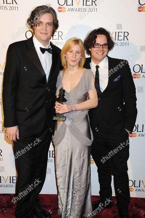 Steve Marmion, Robin Norton Hale and Adam Spreadbury-Maher, winners of Best New Opera production for La Bohéme