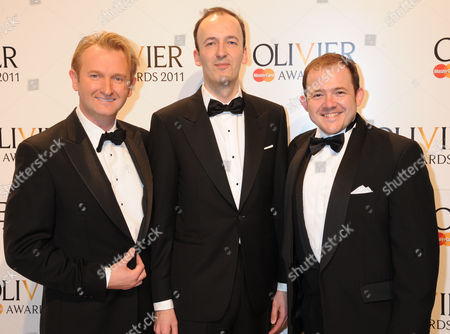 Julian Bird (middle) with guests