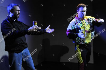 Stock Photo of 'Our Style Is Legendary' - James Hooton as 'The Swinging Man' and Kent Riley as Stone