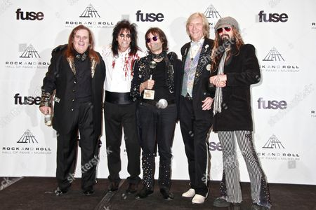 Michael Bruce, Alice Cooper, Dennis Dunaway, Neal Smith and Rob Zombie