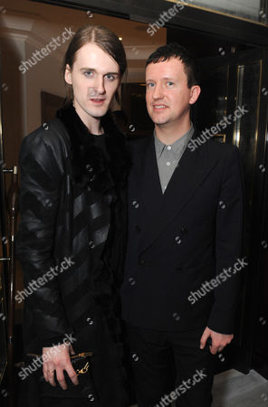 Stock Picture of Gareth Pugh and Ben Reardon (Editor GQ Style)