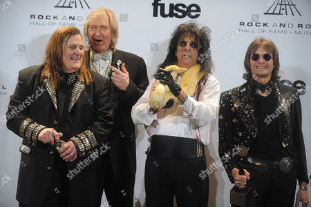 Michael Bruce and Alice Cooper and Dennis Dunaway and Neal Smith
