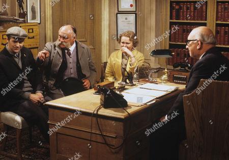 Ian Lavender, Jimmy Edwards and Patricia Brake