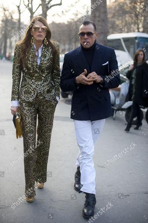 Stock Picture of Anna Dello Russo and George Cortina
