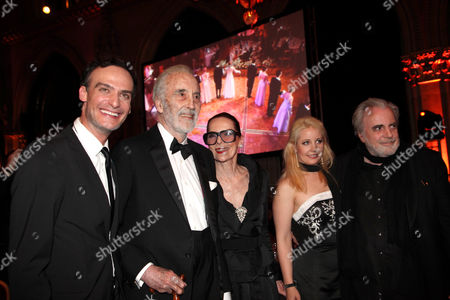 Anatole Taubman, Christopher Lee with Wife, Iva Mihanovic, Maximilian Schell