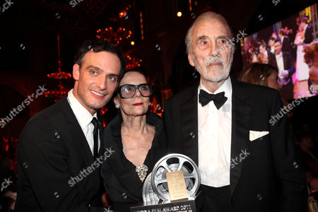 Anatole Taubman, Christopher Lee with Wife