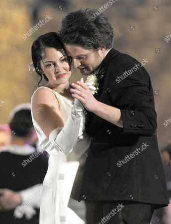 Lacey Turner stars as Elizabeth getting married to childhood sweetheart, scientist Victor Frankenstein, played by Andrew Gower