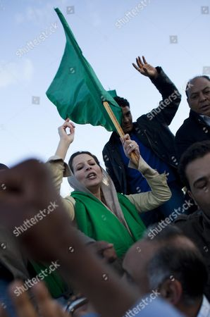 Stock Picture of Ayesha Gaddafi, daughter of Libyan leader Muammar Gaddafi