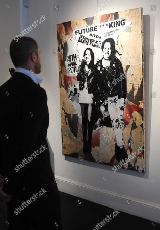 A work depicting a punk-inspired Prince William and Catherine Middleton