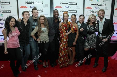 American Idol finalists Thia Megia, James Durbin, Scotty McCreery, Jacob Lusk, Haley Reinhart, Naima Adedapo, Pia Toscano, Lauren Alaina, Stefano Langone, and Paul McDonald
