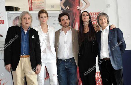 Enrico Vanzina, Vanessa Hessler, Francesco Montanari, Virginie Marsan, and director Carlo Vanzina