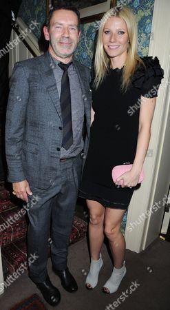 Tomas Maier (Bottega Veneta Creative Director) and Gwyneth Paltrow