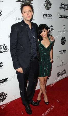 Stock Picture of James Gunn and Mia Matsumiya