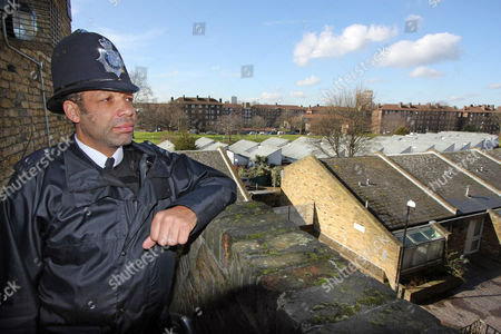Stock Photo of News Feature On Poverty ..... Myatts Field Estate Clapham Known For Its High Gang Violence And Robbery And Where Sgt Jeff Palmer And Pc Allan Douglas-smith As Seen Patrol The Streets ....