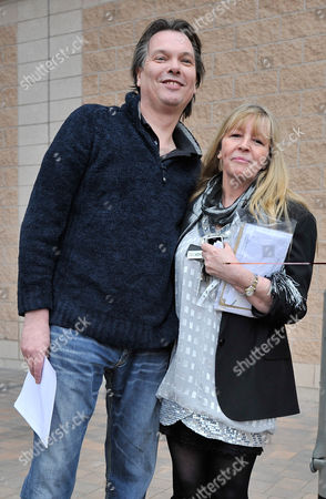 Publican Nick Hogan 43 With Wife Denise Is Released From HMP Forestbank Manchester By Members Of Pro Smoking Group 'forest'.Wilkes- 10/3/10