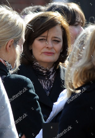 Editorial photo of Cherie Blair At Michael Foot Funeral Golders Green
