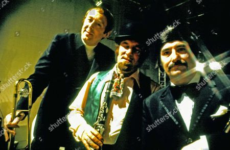 Chris Barber, Acker Bilk and Kenny Ball at London Weekend Television studios (LWT), Britain