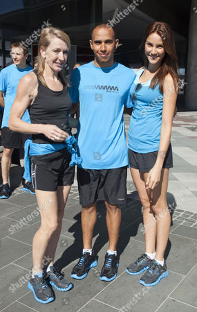 Jane Fleming, Lewis Hamilton and Rachael Finch