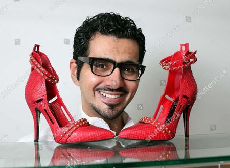 Editorial image of Shoe designer, Sultan al Darmaki, London, Britain - 10 Feb 2011