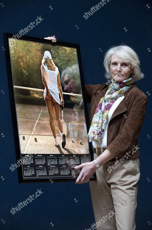 Fiona Walker with her famous 'cheeky' Athena tennis girl poster