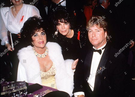 Elizabeth Taylor, Carole Bayer Sager and Larry Fortensky