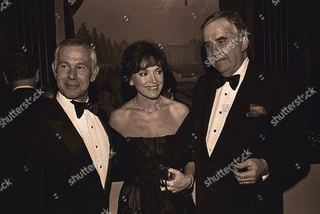 Johnny Carson, Joanna Holland Carson, Ed McMahon