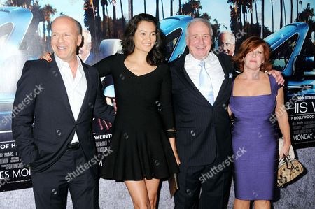Bruce Willis, Emma Heming, Jerry Weintraub and Jane Weintraub