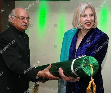 Pakistan High Commissioner, Wajid Shamsul Hasan and Theresa May MP