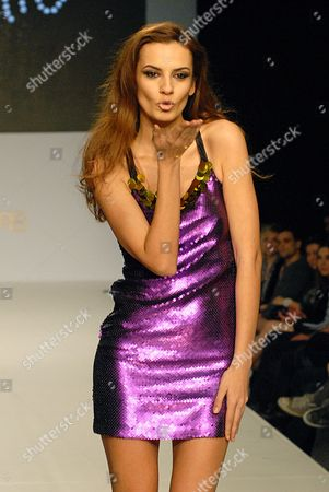 Stock Picture of Model on the runway during the Indashio show