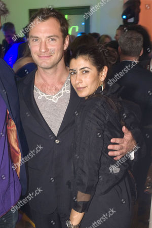 Stock Image of Jude Law with Mia Turnbull