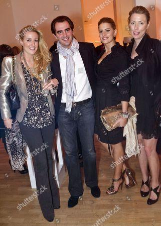 Prince Nikolaos of Greece and Denmark, Tatiana Blatnik and guests