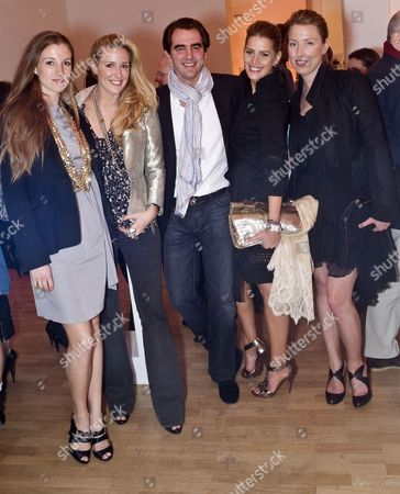 Stock Picture of Prince Nikolaos of Greece and Denmark, Tatiana Blatnik and guests