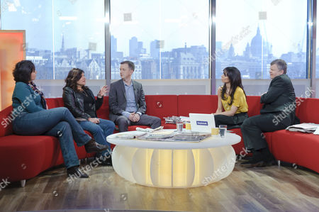 Lorna Ashworth, Lorrine Marer and Phil Reay Smith with Adrian Chiles and Christine Bleakley