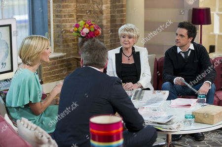 Gloria Hunniford and Mike Toolan with Mark Durden-Smith and Jenni Falconer.