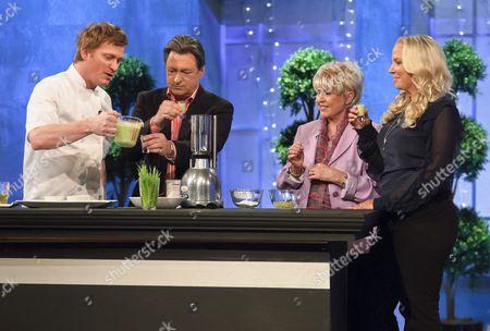Stock Picture of Ian Pengelley, Alan Titchmarsh, Gloria Hunniford and Ashley Pearson